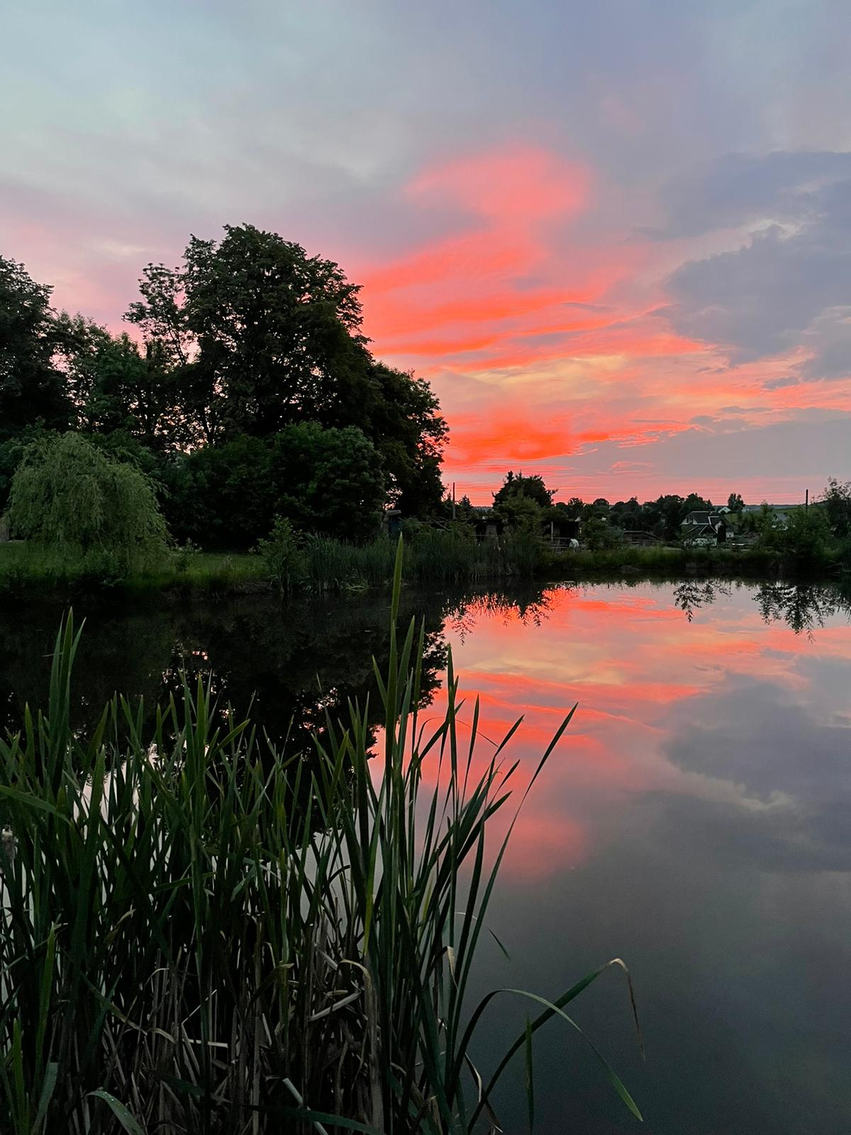 Sonnenuntergang über dem Tecih